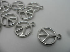 25 X acrylic/plastic CND ~ signo de la paz ~ pendants/beads/charms la fabricación de joyas