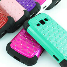 For Samsung Galaxy Ring M840 Prevail II 2 Color Hybrid Spot Diamond Case Cover