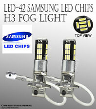 Samsung H3 LED 42 SMDs Canbus No Error Free DRL Super White Fog Light Bulbs M377