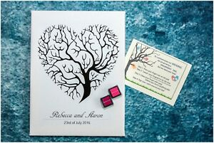 A4 PERSONALISED FINGER PRINT TREE + INK PAD + INSTRUCTION CARD