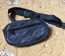 Real Leather Waist Bag Travel Holiday Money Belt Pouch