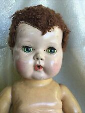 Vintage Tiny Tears Doll Red Caracul Wig For Parts Needs Tlc