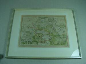 "Altkolorierte Karte ""Principauté de Halberstadt"", Landkarte gerahmt."