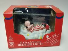 Vtg Mickey Mouse on Cloud Sleepy Head Child's Nite Lite with Sound by Hei
