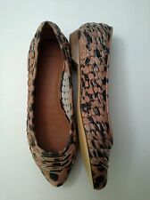 GIVENCHY Woven Leather Leopard Print Flats Size 6 US / 36 EUR Comfort $550