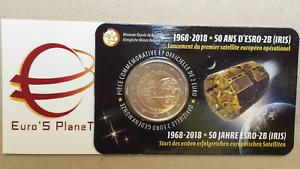 Coin card 2 euro 2018 BELGIO Belgique Belgica België Belgium ESRO 2B Iris FR