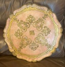 More details for vintage busa florentine gold gilded tray italy 44cm