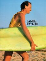JAMES TAYLOR 1986 THAT'S WHY I'M HERE WORLD TOUR CONCERT PROGRAM BOOK-NMT TO MNT