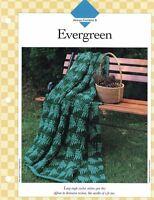 Evergreen Afghan to Crochet Single Pattern Vanna White