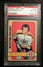 1972 72-73 OPC 3rd series Don Marcotte  (219) PSA 8 POP 21 Only 2 Higher.