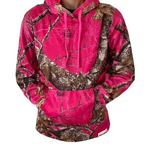 Women's Realtree Edge Pink Performance Fleece Polyester Pullover Hoodie Sweat