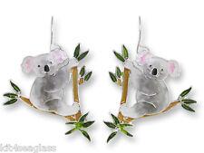 Zarah Zarlite Australian KOALA Bear EARRINGS Sterling Silver Plated - Gift Boxed