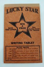 Vintage Lucky Star School Notebook, Children's Writing Tablet,win prizes 1944