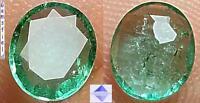 VVS - 0.48ct !! EMERAUDE de COLOMBIE - lumineux vert émeraude - poli AAA++
