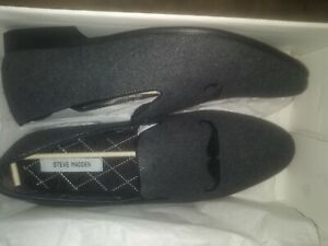 Steve Madden Chamberz Gray Flannl size 12 mens shoes new in box