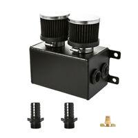 "Universal Alloy 1.2L Baffle Engine Oil Catch Can 2x 3/4"" Barb Black LS1 LS2"