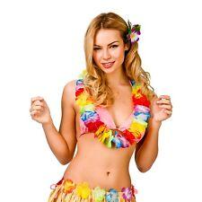 HAWAIIAN LEIS GARLAND NECKLACE MULTI COLOURED FANCY DRESS PARTY HAWAII BEACH FUN