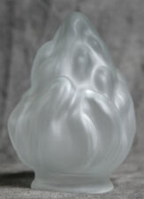 """5"""" FROSTED GLASS FLAME SHADE TORCH GLOBE 2 1/4 """" FITTER SIZE"""