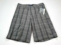 Oakley Swagger 2.0 Men's 33 Gray Yellow Check Shorts NEW NWT