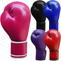 Leather Boxing Gloves Sparring Punch Bag Grappling Gloves Junior & Adults