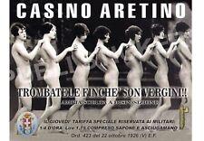 "TARGA VINTAGE 1926 CASA DI TOLLERANZA""CASINO ARETINO""IMMAGINE RESTAURATA,BROTHEL"