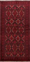 Excellent Tribal Geometric Balouch Afghan Area Rug Traditional Hand-knotted 3x6