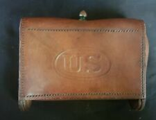 New listing Rock Island Arsenal Leather Pistol Case Cartridge Box From 1904 U.S Army