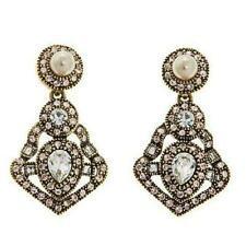 """Heidi Daus """"Power & Poised"""" Crystal Pierced Earrings $120 Retail New With Tag"""
