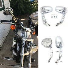 Chrome Motorcycle Rearview Wing Mirror Moto Rearview Mirrors Hollow styling case