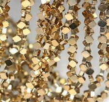 "6X6MM 18K GOLD HEMATITE GEMSTONE DIAMOND SQUARE 6X6MM LOOSE BEADS 16"""