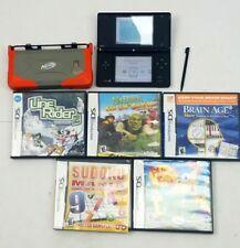 Nintendo DSi Black System, Nerf Case, Lot of 5 Games
