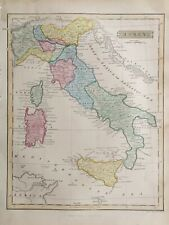 1839 Antique Map; Italy, Sicily, Sardinia & Corsica after John Russell