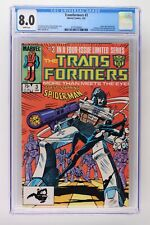 Transformers #3 - Marvel 1985 CGC 8.0 Spider-Man Appearance. 2 different direct
