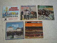 MARCHES MILITAIRES ALLEMANDES + DIVERS- Lot de 5 LP