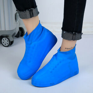 NYLON WATER PROOF, NON-SLIP & RE-USABLE SHOE COVER FOR WOMEN CYCLING SHOES BLUE