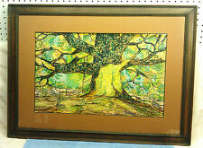 Beautiful Landscape Scene, Hand Done in Marker, Framed and Matted, EXC COND!