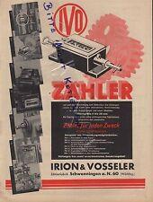 SCHWENNINGEN, Werbung 1938, Irion & Vosseler Zählerfabrik IVO