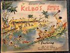 Vintage Kelbo's Drink Menu Los Angeles Hollywood Hawaiian Tiki