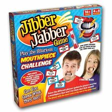 Jibber Jabber Hilarious Xmas Party Board Game 6 Mouthpieces Speak out Loud Talk