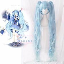 Vocaloid Hatsune Miku Star&Snow Princess Cosplay Full Wig Long Wigs Light Blue