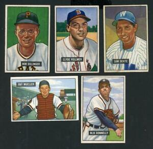 1951 Bowman - Lot of 5 Different - VG-EX+ to EX