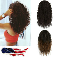 Afro Kinky Curly Clip in Ponytails Puff with Drawstring One-Piece Hair Extension