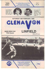 1988/89 Glenavon v Linfield - Irish Cup - 18th Feb - Vol 7 No 22