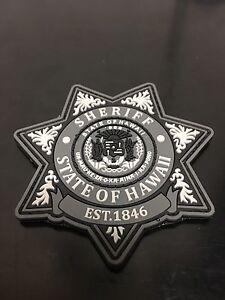 Hawaii Sheriff PVC Morale Patch (grey)
