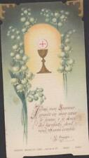 IMAGE PIEUSE HOLY CARD SANTINI CALICE BRINS DE MUGUET - PAROLE DE ST AUGUSTIN