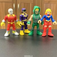 4x Imaginext DC Super Friends Figure super girl Green Arrow Fisher price Toys