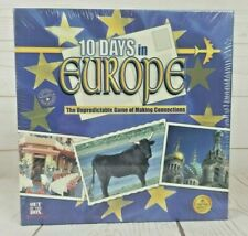 Nib 10 Days in Europe Family Board Game Mensa Select New Sealed