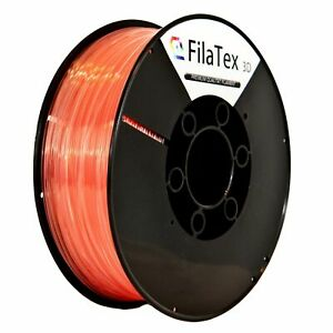 Premium PLA Filament Rolle Shiny Coral Light Klar Transparent 1,75mm 1KG