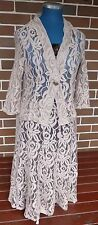 W LANE SIZE 12 BEIGE LACE TWIN SET/TOP/SKIRT FORMAL/WEDDING/MOTHER OF THE BRIDE