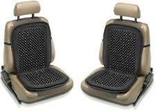 2 x BLACK WOODEN BEAD BEADED CAR TAXI VAN CHAIR MASSAGE SEAT PAIR CUSHION COVER